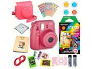 Fujifilm Instax Mini 8 Raspberry bundle: Instant camera + InstantRainbow  Film + Accessories