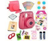 Fujifilm Instax Mini 8 Raspberry bundle: Instant camera + Instant Candy Pop  Film + Accessories