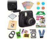 Fujifilm Instax Mini 8 (Black) Deluxe kit bundle Includes: - Instant camera with Instax mini 8 instant films (10 pack) - Custom Camera Case - instax Photo Album