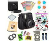 Fujifilm Instax Mini 8 (Black) Deluxe kit bundle Includes: - Instant camera with Instax mini 8 instant films 10 pack (Hello Kitty 2016) - Custom Camera Case - i