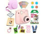 Fujifilm Instax Mini 8 Pink Deluxe kit bundle Includes Instant camera with Instax mini 8 instant films 10 pack Custom Camera Case instax Photo Album