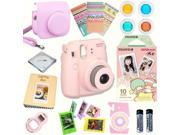 Fujifilm Instax Mini 8 (Pink) Deluxe kit bundle Includes: - Instant camera with Instax mini 8 instant films 10 pack (Little Twin Stars) - Custom Camera Case - i