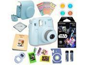 Fujifilm Instax Mini 8 Blue bundle: Instant camera + InstantStar Wars  Film + Accessories