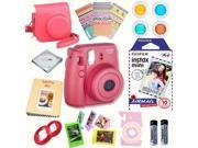 Fujifilm Instax Mini 8 Raspberry bundle: Instant camera + InstantAir Mail  Film + Accessories