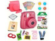 Fujifilm Instax Mini 8 (Raspberry) Deluxe kit bundle Includes: - Instant camera with Instax mini 8 instant films (10 pack) - Custom Camera Case - instax Photo A