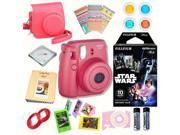 Fujifilm Instax Mini 8 Raspberry bundle: Instant camera + Instant Star Wars  Film + Accessories