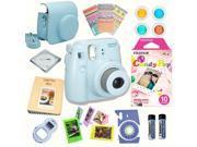 Fujifilm Instax Mini 8 Blue bundle: Instant camera + Instant Candy Pop  Film + Accessories