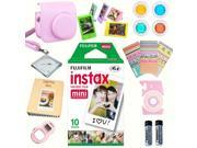 Fujifilm instax mini 8 accessories KIT PINK includes - instant film 10 pack +  deluxe bundle for fujifilm instax mini 8 camera
