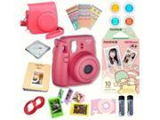 Fujifilm Instax Mini 8 Raspberry bundle: Instant camera + Instant Little Twin Stars Film + Accessories