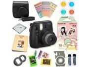 Fujifilm Instax Mini 8 Black Deluxe kit bundle Includes Instant camera with Instax mini 8 instant films 10 pack Little Twin Stars Custom Camera Case