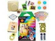 Fujifilm Instax mini 8 Film (Rainbow 10-PACK) + DELUXE Accessory KIT (Yellow)