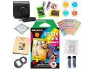Fujifilm Instax mini 8 Film (Rainbow 10-PACK) + DELUXE Accessory KIT (Black)