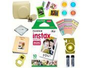 Fujifilm instax mini 8 accessories KIT YELLOW includes - instant film 10 pack +  deluxe bundle for fujifilm instax mini 8 camera
