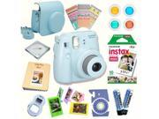 Fujifilm Instax Mini 8 (Blue) Deluxe kit bundle Includes: - Instant camera with Instax mini 8 instant films (10 pack) - Custom Camera Case - instax Photo Album