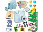 Fujifilm Instax Mini 8 (Blue) Deluxe kit bundle Includes: - Instant camera with Instax mini 8 instant films (60 pack) - A MASSIVE DELUXE BUNDLE (Over 30 + Pcs)