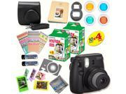 Fujifilm Instax Mini 8 (Black) Deluxe kit bundle Includes: - Instant camera with Instax mini 8 instant films (40 pack) - A MASSIVE DELUXE BUNDLE (Over 30 + Pcs)