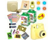 Fujifilm Instax Mini 8 (Yellow) Deluxe kit bundle Includes: - Instant camera with Instax mini 8 instant films (40 pack) - A MASSIVE DELUXE BUNDLE (Over 30 + Pcs