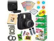 Fujifilm Instax Mini 8 (Black) Deluxe kit bundle Includes: - Instant camera with Instax mini 8 instant films (60 pack) - A MASSIVE DELUXE BUNDLE (Over 30 + Pcs)