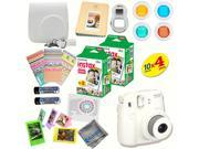 Fujifilm Instax Mini 8 (White) Deluxe kit bundle Includes: - Instant camera with Instax mini 8 instant films (40 pack) - A MASSIVE DELUXE BUNDLE (Over 30 + Pcs)