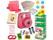 Fujifilm Instax Mini 8 (Raspberry) Deluxe kit bundle Includes: - Instant camera with Instax mini 8 instant films (60 pack) - A MASSIVE DELUXE BUNDLE (Over 30 +