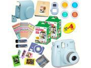 Fujifilm Instax Mini 8 (Blue) Deluxe kit bundle Includes: - Instant camera with Instax mini 8 instant films (40 pack) - A MASSIVE DELUXE BUNDLE (Over 30 + Pcs)