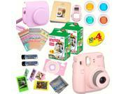 Fujifilm Instax Mini 8 (Pink) Deluxe kit bundle Includes: - Instant camera with Instax mini 8 instant films (40 pack) - A MASSIVE DELUXE BUNDLE (Over 30 + Pcs)