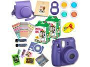 Fujifilm Instax Mini 8 (Grape) Deluxe kit bundle Includes: - Instant camera with Instax mini 8 instant films (40 pack) - A MASSIVE DELUXE BUNDLE (Over 30 + Pcs)