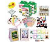 Fujifilm instax mini 8 Camera Accessory KIT includes - Fuji Instant Film 60 SHEETS +  Premium Over 60 PCS bundle for fujifilm instax mini 8 Films