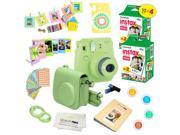 Fujifilm Instax Mini 9 (Lime Green)  Deluxe kit bundle Includes -Instant camera with Instax mini 9 instant films (40 pack) - Custom Camera Case - instax Album –