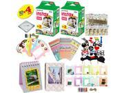 Fujifilm instax mini 8 Camera Accessory KIT includes - Fuji Instant Film 40 SHEETS +  Premium Over 60 PCS bundle for fujifilm instax mini 8 Films