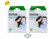 Fujifilm Instax Square Instant Film - 20 Exposures + Quality Photo Microfiber Cloth