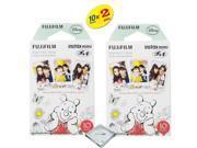 fujifilm instax mini 8 instant film 2-PACK (20 Sheets) winnie the pooh