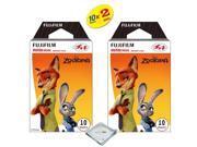 Fujifilm Instax Mini 8 Instant Film 2-PACK (20 Sheets) Zootopia TW