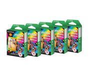 Fujifilm instax mini Instant Rainbow Film Bundle (5x 10-Sheet Packs)