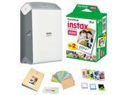 Fujifilm Instax SHARE SP-2 Portable Smart Phone Photo Printer w/ Instax Photo Paper Film Pack + Accessory Kit Bundle - Instantly Print Pictures from iPhone or a