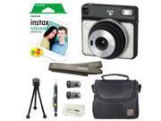 Fujifilm Instax SQUARE SQ6 Instant Film Camera (Pearl White) + instax Wide Instant Film, 20 Square Sheets + Extra Accessories