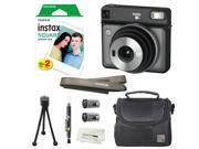 Fujifilm Instax SQUARE SQ6 Instant Film Camera (Graphite Grey) + instax Wide Instant Film, 20 Square Sheets + Extra Accessories
