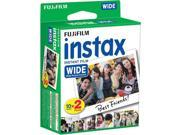 Fujifilm INSTAX Wide Instant Film 6 Pack - 60 SHEETS - (White) For Fujifilm Instax Wide Cameras + Frame Stickers and Microfiber Cloth Accessories