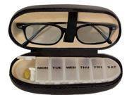 Eyeglass and Pill Carrying Case - Black