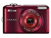 Nikon Coolpix 26395 L28 20.1 Megapixels Digital Camera - 5x Optical/4x Digital Zoom - 3.0-inch LCD Display - Red