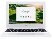 "Acer 11.6"" Chromebook Intel Celeron 2GB Memory 16GB eMMC Flash Memory White NX.G85AA.001"