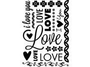 Valentine Love Embossing Folder by Cgull