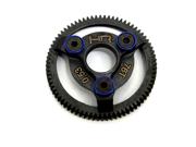 Hot Racing STE876 Hardened Steel Spur Gear (76t 48p)(Blue) - Traxxas