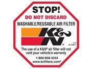 K&N Filters 89-16063-1 Decal