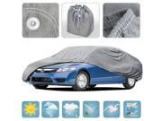 Large Car Cover Waterproof All Weather Ding Protection Multi Layers Auto Cover