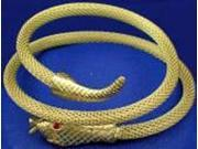 Woven Snake Arm Band- Gold