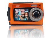 SVP® Aqua 5800 Orange 18 MP Dual Screen Waterproof Digital Camera