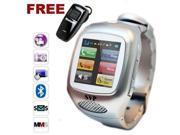 SVP G14 Watch Phone Smart Watch Sliver Camera GSM Quad-band