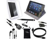 DigitalsOnDemand ® 9-Item Accessory Bundle for Apple iPad Mini 1 2 3 - Leather Case, TPU Cover, Screen Protector, USB Cables + Chargers