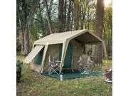 Delta Zulu Combo Canvas 4 Person Chalet Tent with gazebo. Modular basecamp tent solution with waterproof ripstop military grade canvas. Four season canvas campi thumbnail